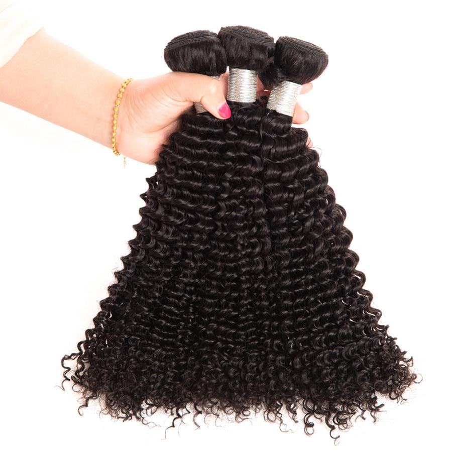 Wonder meisje haarverlenging peruaanse kinky krullend haar bundels - Mensenhaar (voor zwart) - Foto 4