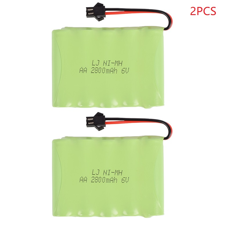 6V 2800mAh Remote Control Toys Electric toy security facilities electric toy <font><b>AA</b></font> battery 6 <font><b>v</b></font> battery group SM/T/JST/Plug 2pcs/set image