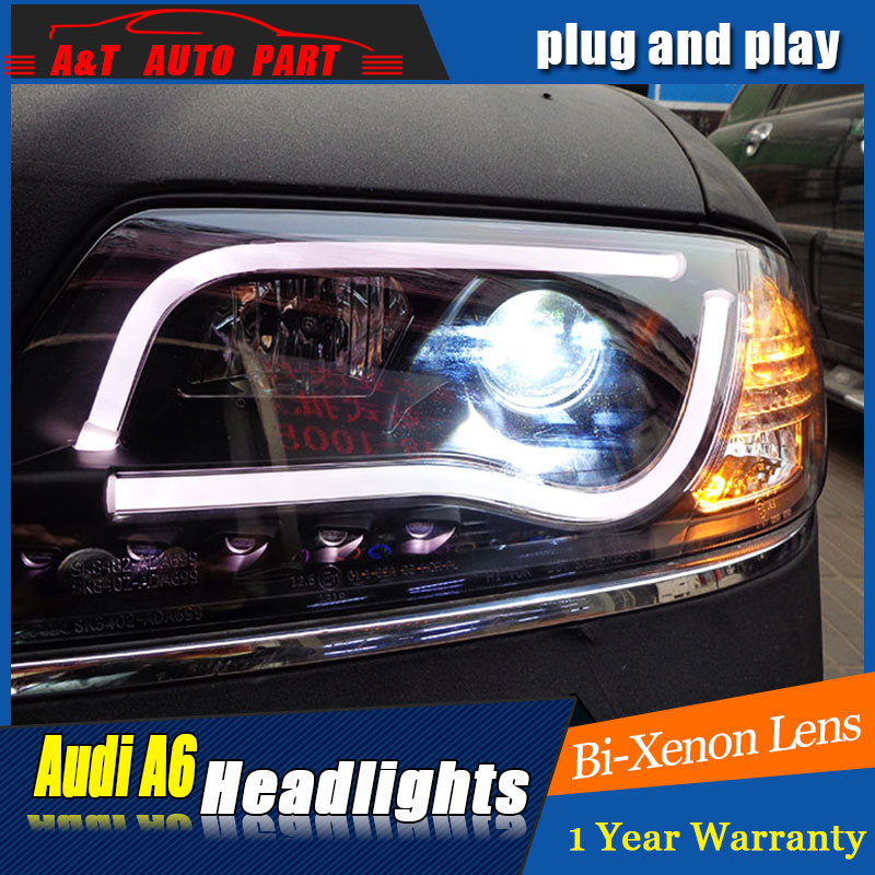 Auto Lighting Style LED Head Lamp for AU DI A6 headlights 1999 for A6 LED angle eyes drl H7 hid Bi-Xenon Lens low beam marchesi di barolo 1999
