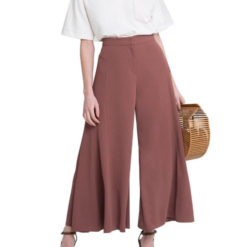 Women   Wide     Leg     Pants   High Waist Trousers Palazzo OL   Pants   Long Culottes   Pants   Long Trousers
