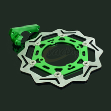 Buy online CNC 270MM Motorcycle Front Floating Brake Disc & Caliper Bracket Adapter For KAWASAKI KX125 KX250 KX250F KLX450R KX450F