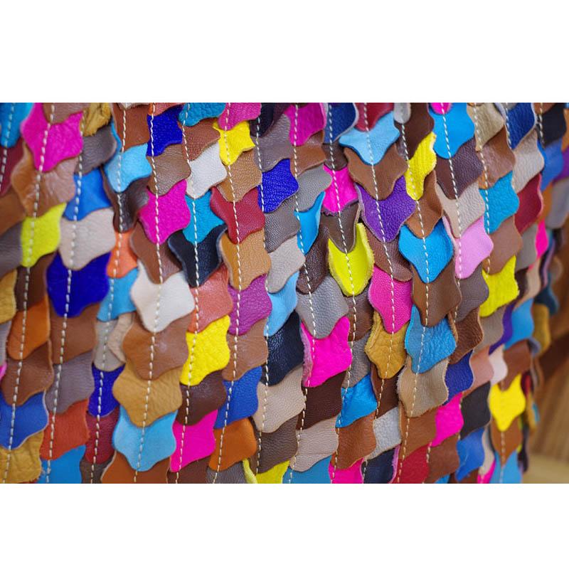 iPinee Bolsos de moda 2018 Patchwork de lujo bolso de cuero genuino - Bolsos - foto 5