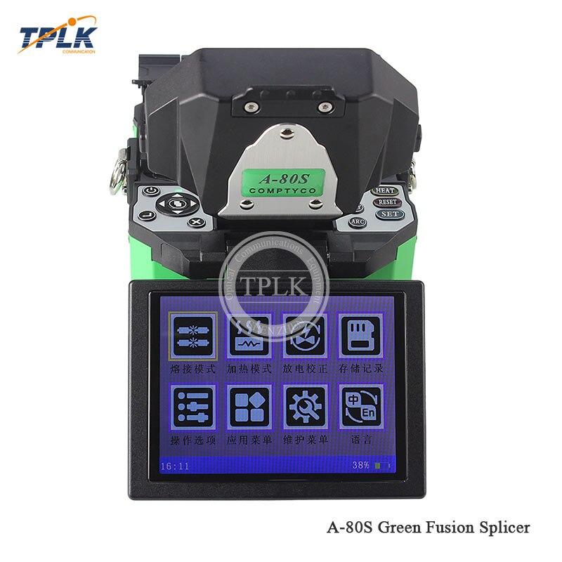 A-80S зеленый автоматический интеллектуальный оптоволоконный сварочный аппарат A-80S FTTH сварочный аппарат машина для сращивания оптического волокна