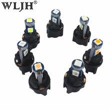 WLJH 10x LED Canbus Car T5 With Lamps Socket Twist Dash Light Instrument Panel Cluster Holder Bulb 12V