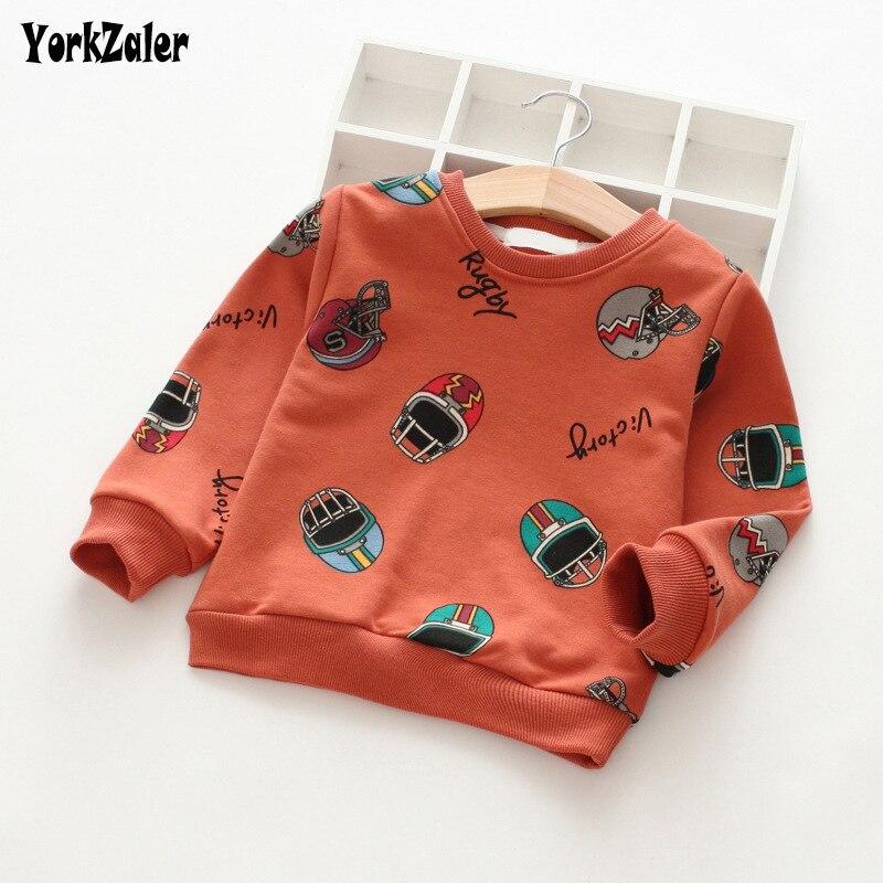 Yorkzaler Camisa Dos Miúdos Para A Menina Menino Manga Longa Roupas  Primavera Outono das Crianças Da Criança Do Bebê Dos Desenhos Animados  Impresso T-shirt ... 5ed75ffbb661c