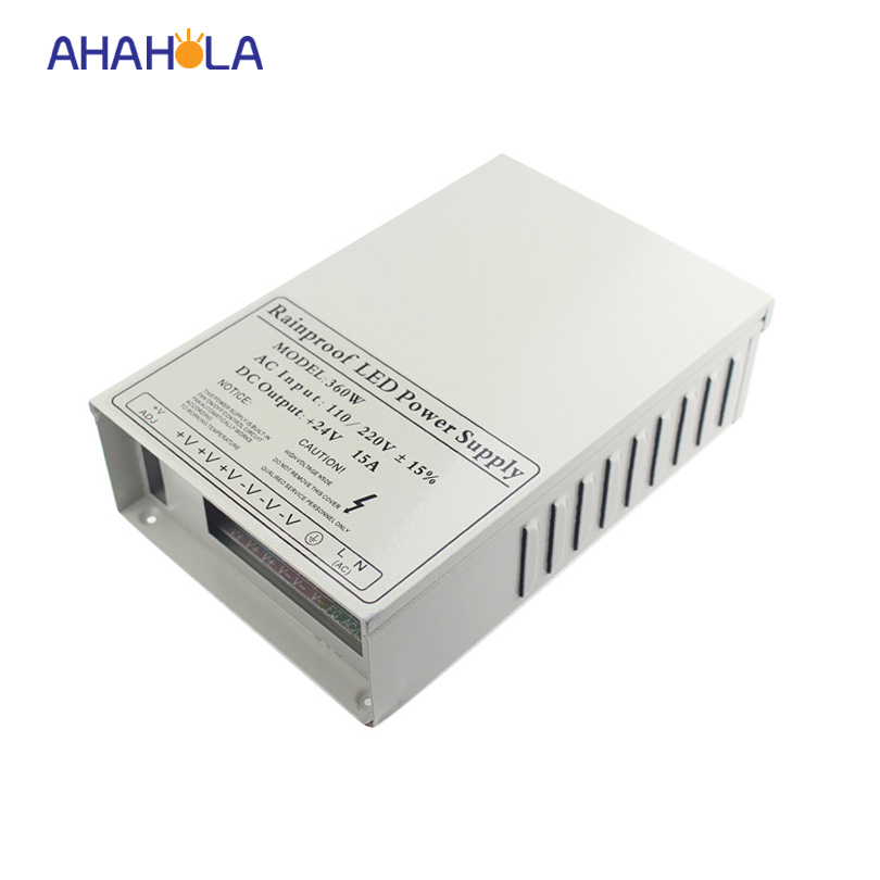 waterproof ip65 12v 30a/24v 15a 360w switching power supply,ac 110v-220v to dc 24v led power supply meanwell 24v 60w ul certificated lpv series ip67 waterproof power supply 90 264v ac to 24v dc