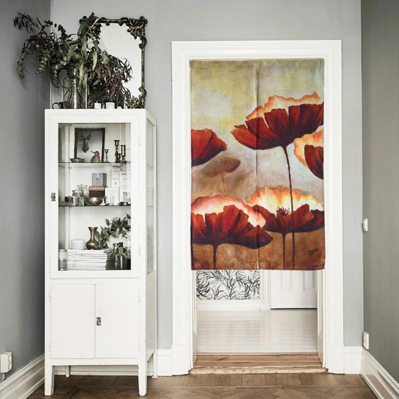Pale Lotus Cotton Door Curtains