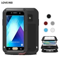 Love Mei Life Waterproof Metal Aluminum Armor Hard Case For Samsung A3 2017 A5 2017 Cover