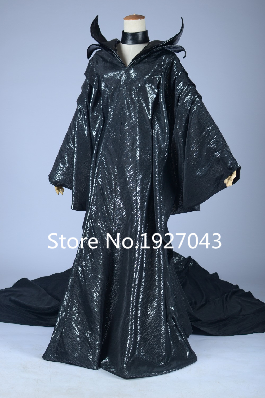 Jason Movie sleeping beauty maleficent Cosplay Costumes Sex Black Dresses angelina jolie Cosplay Dresses free hat