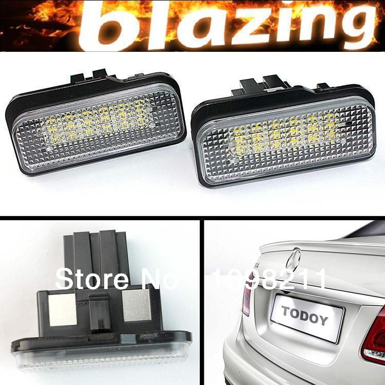 Pair High Power Error Free 18 SMD LED license plate tag light For W203 W211 W219