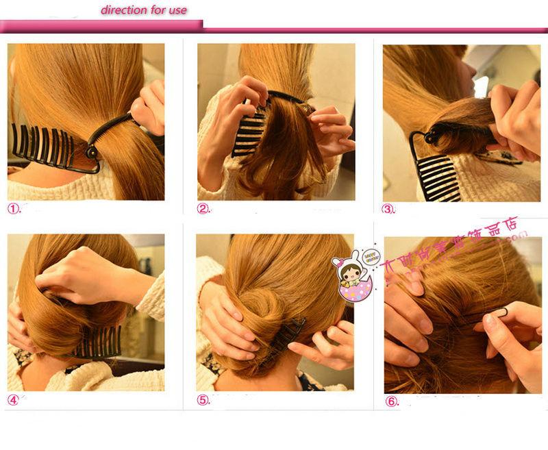 Women Diy Hair Styling Updo Bun Comb Clip Tool Formal French Twist