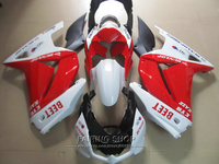 Top selling injection mold fairings For Kawasaki ninja 250r 08 09 10 14 2008 2014 white red black EX250 fairing kit PO31