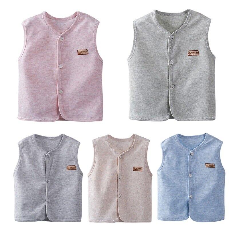 5 color Vest Children\'s Four Seasons Vest Boys Girls Clothing 4 Color Cotton Soft Kids Baby Vest Waistcoat K21