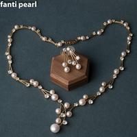 Handmade necklace irregular freshwater Pearl necklace for woman