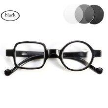 Фотохромные серые линзы для мужчин и женщин, солнцезащитные очки для чтения, Обесцвечивающие диоптрии, очки Gafas, круглая квадратная оправа