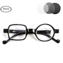 Photochromic Gray Lens Men Women Sun Reading Glasses Discoloration Diopters Gafas Round square Frame