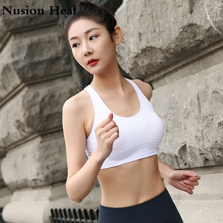 2018 New Women Sports Tops High Impact Personality Sports Bra Women Running Fitness Yoga Bra Top Clothes Debardeur Femme Fitness