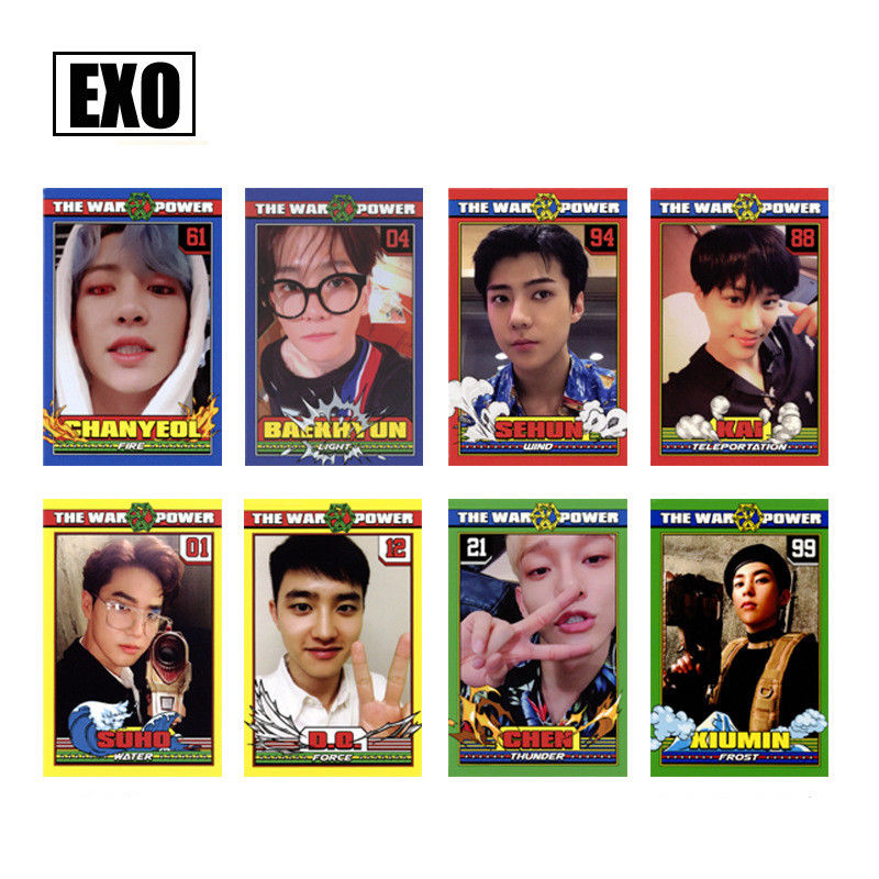 SGDOLL KPOP EXO The Power of Music Self made Cards KAI CHEN Photocard Chanyeol DO 8pcs