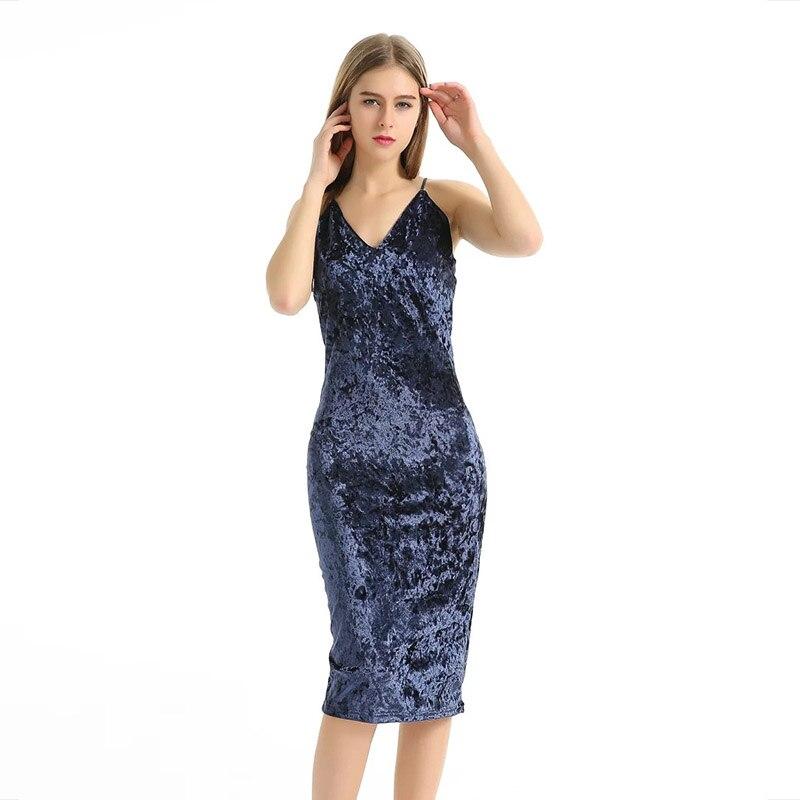 Aliexpress shoulder navy bodycon midi dress fishtail one sleeve