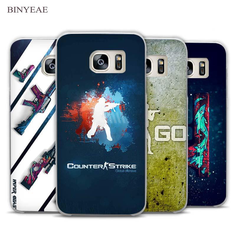 BINYEAE Game CSGO Transparent Phone Case Cover for Samsung Galaxy S3 S4 S5 S6 S7 Edge Plus Mini