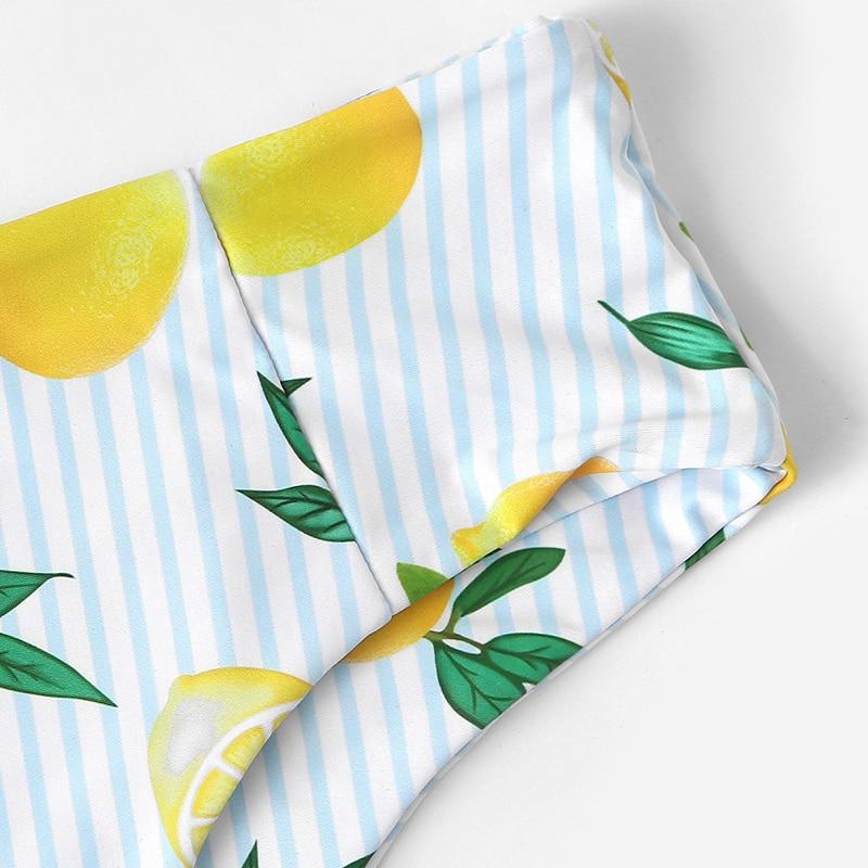 Lemon Print Knot Bikini 7