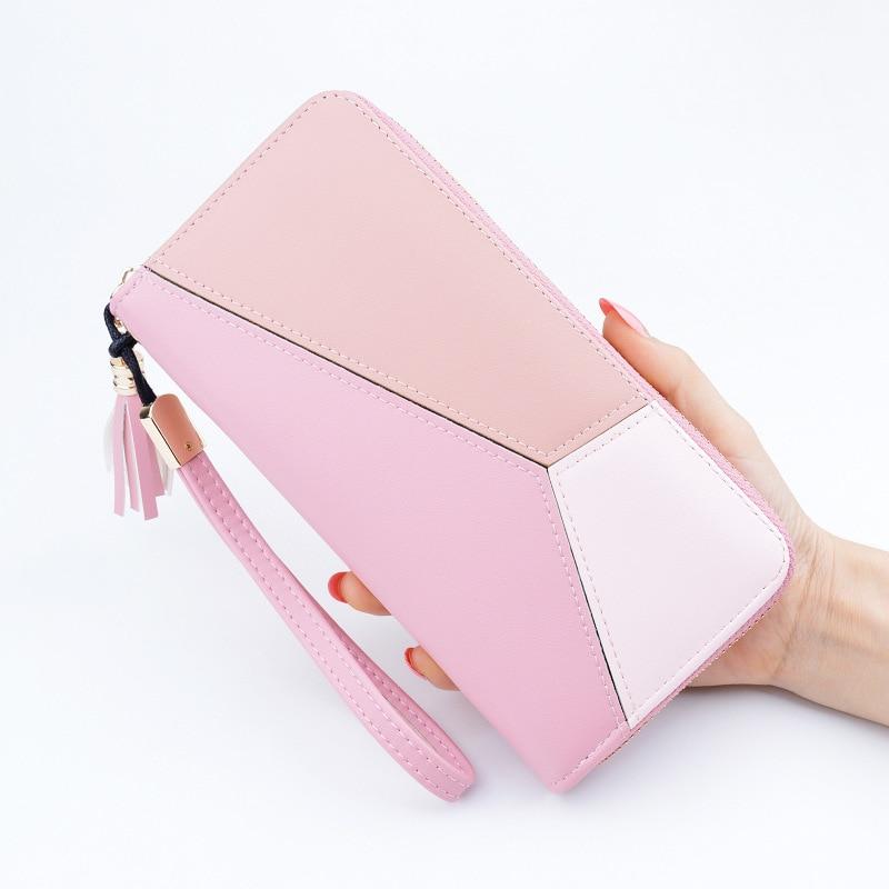 Fashion Women Wallets Brand PU Leather purse Long Clutch Hasp Zipper Card Holders Money Bag Carteira