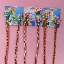 NANTIANZAI 2PCS Kids Cartoon Ribbon Princess Elsa Anna Hair Accessories BB Clips