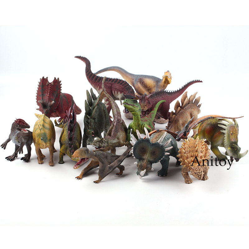 World Jurassic Park Wildlife Dinosaur Figures Animal Plastic Toy PVC Jurassic World Dinosaur Action Figures Children's Toy Gifts wiben jurassic acrocanthosaurus plastic toy dinosaur action