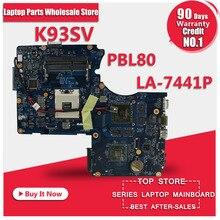 Laptop Motherboard K93SV X93SV X93S motherboard Genuine HM65 Mainboard PBL80 LA-7441P N12P-GS-A1 60 days warranty
