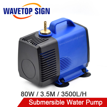 WaveTopSign Multi-Function Submersible Water Pump 80W 3.5M 3500L/H IPX8 220V for CO2 Laser Engraving Cutting Machine