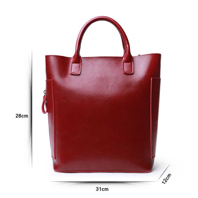 Luxo saco de Couro Real das mulheres Bolsas Das Senhoras do Couro Genuíno Tote Sacos de Mão Designer de Compras Sacos de Ombro Para As Mulheres do Sexo Feminino
