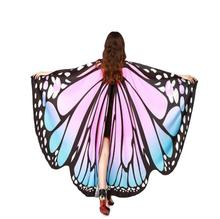 Drop Shipping HOT Women Butterfly Wings Pashmina Shawl Scarf Nymph Pixie Poncho Costume Accessory 70925