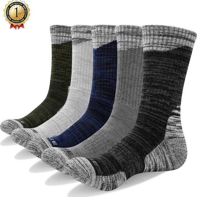 YUEDGE 5 pairs Cotton compression socks for man trekking formal hiking socks meia Contrast Color Designer Brand Fit US38-46