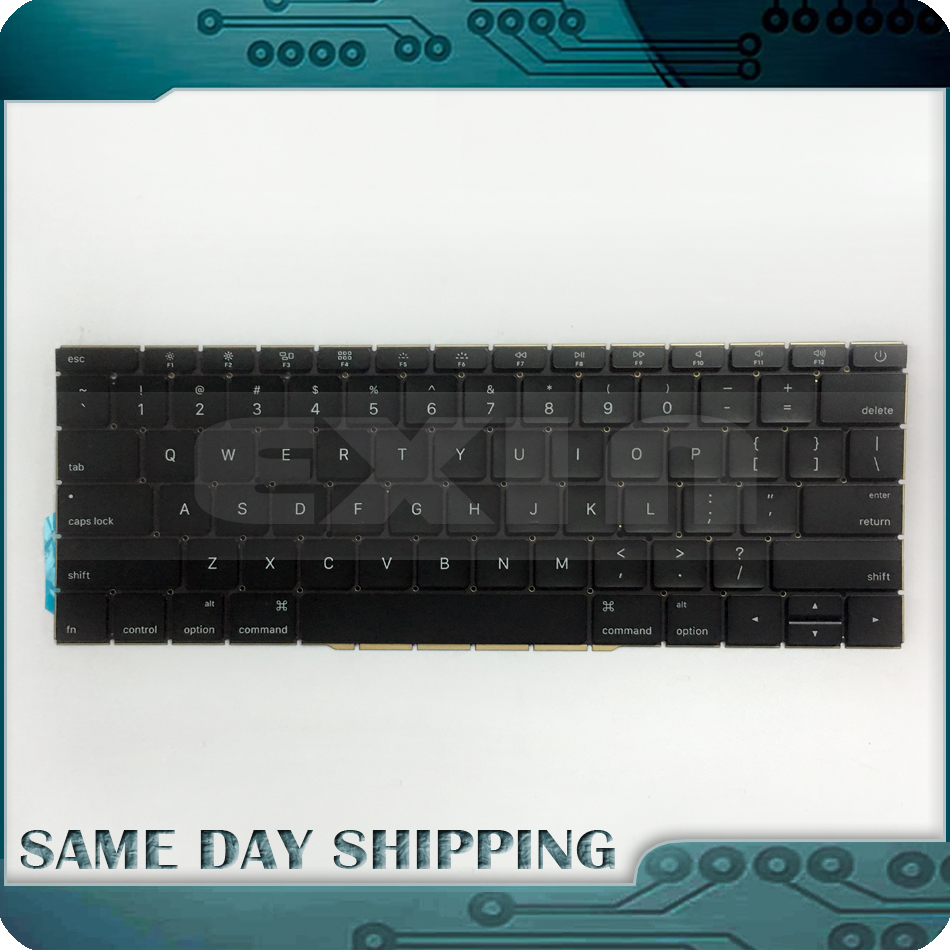 Genuine New for Macbook Pro 13.3 Retina A1708 Keyboard US Layout QWERTY English Standard 2016 2017 Year EMC 2978 EMC 3164 new keyboard for lenovo g580 g580a g585 z580 v580 la sp layout