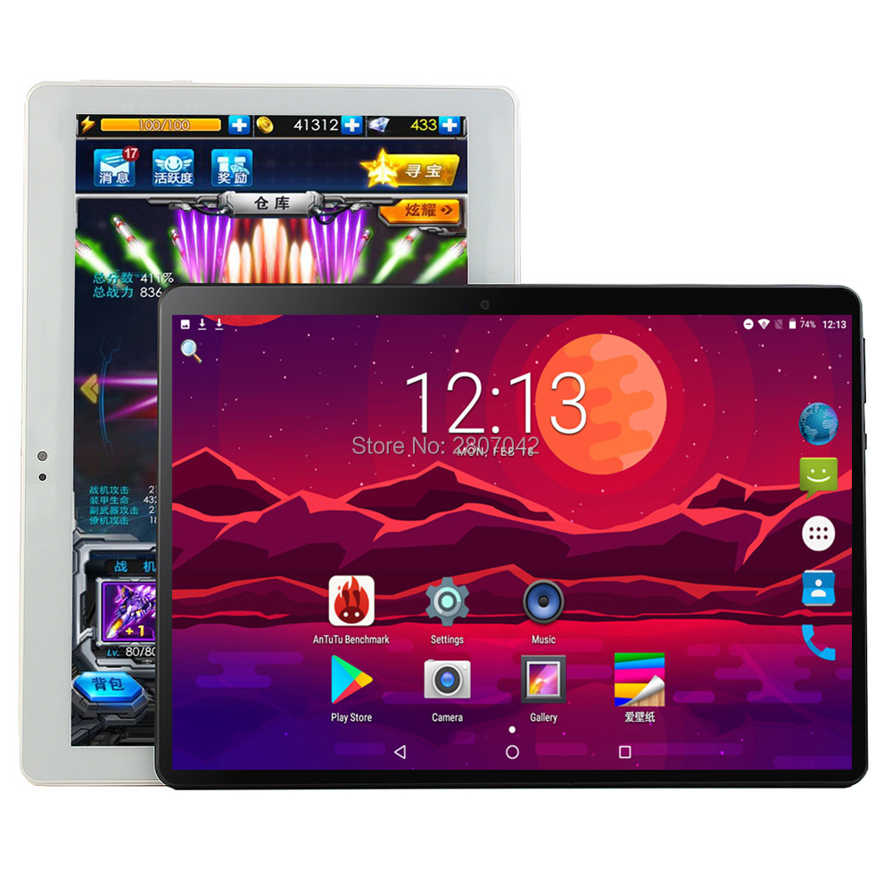 Polegada Tablets 10 Android8.0 6 Octa Núcleo Ram GB ROM 128 GB Dual Camera 8MP Dual SIM Tablet PC Wi-fi GPS bluetooth do telefone