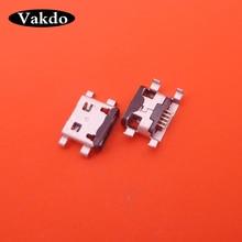 100pcs Micro USB 5pin Vrouwelijke Connector Voor MOTO G1 Mini USB Jack Connector Toepasbaarheid voor mobiele telefoon opladen staart plug