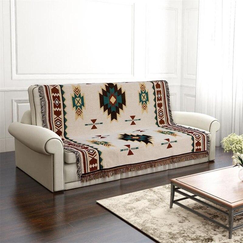 Coton canapé serviette couverture dinde couvertures décoratives tapis baie fenêtre pad mode pique-nique tapis