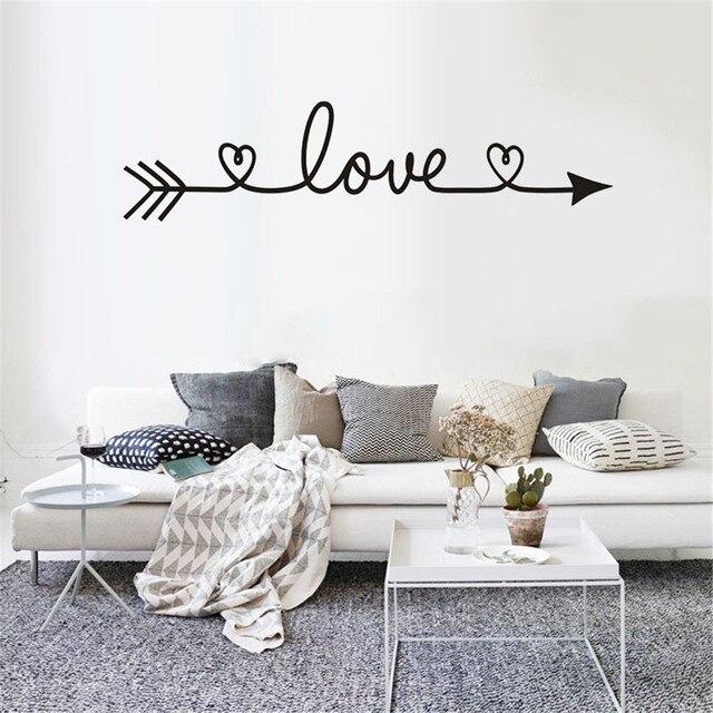 Любовный узор DIY семейная домашняя Наклейка на стену съемные настенные наклейки виниловый художественный Декор для комнаты Наклейка на стену s muaux