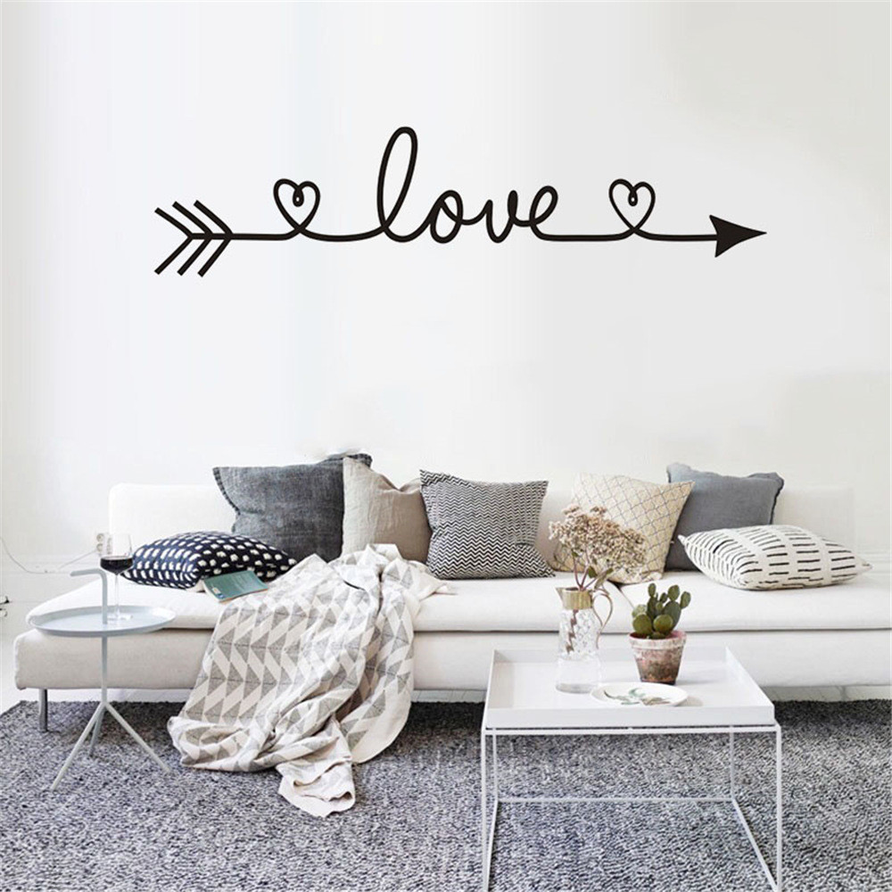 80cm width x 40cm high White Bedroom by Fabulous Wall Art Stickers All You Need is Love Lounge Vinyl Wall Art Sticker Decal Mural