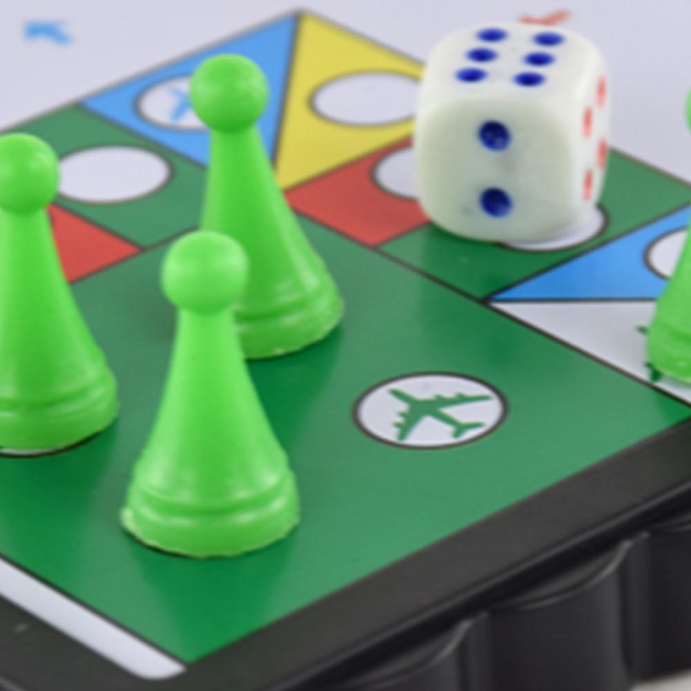 HTB1 1B5aYr1gK0jSZFDq6z9yVXa9 Mini Magnetic Foldable Flying Chess Crawling Mat Ludo Portable Board Game Camping Travel Game Set Fast Dispatch 21*21*2cm