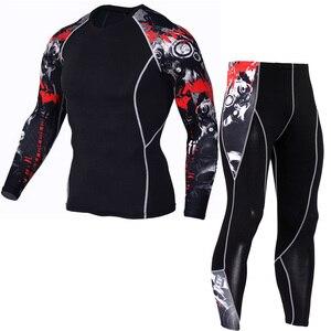 Image 5 - Winter Men S Thermalชุดชั้นในแขนยาวชุดกีฬาการบีบอัดยืดหยุ่นTrackและFieldทำงานชายสวมใส่ใหม่