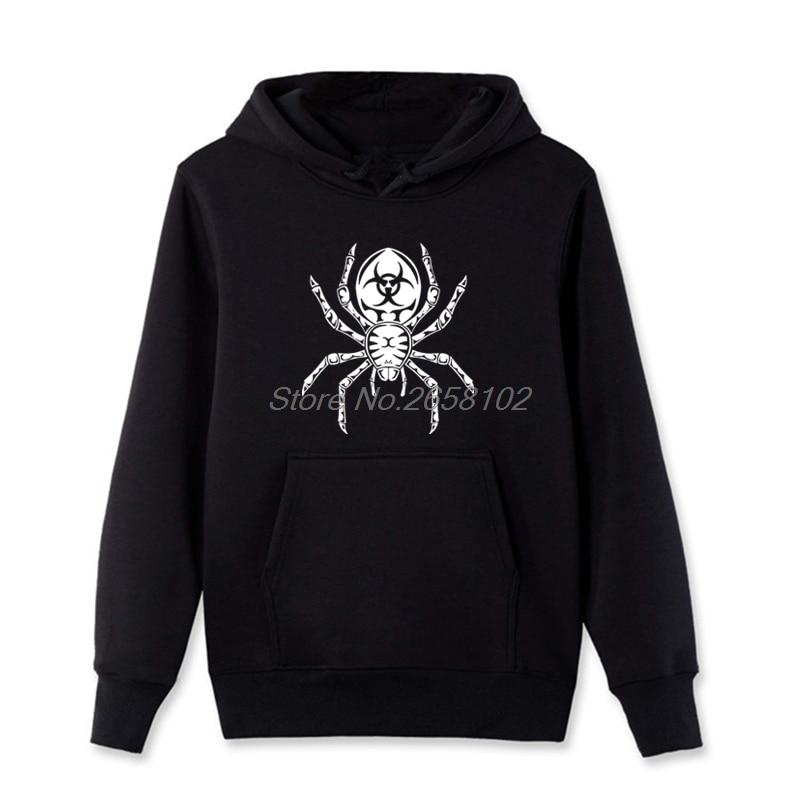 In Staat Tribal Tarantula Gedrukt Op Hoodies Mannen Grote Zwarte Spider Sweatshirt Lente Herfst Tops Jas Harajuku Streetwear Met De Beste Service