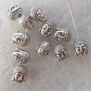 (30 Pcs/lot) 11x9x8mm Buddha Tibetan DIY Retro Jewelry Bead image
