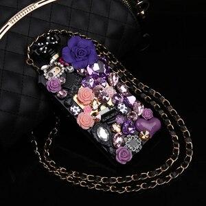 Image 2 - Hot Anna Bling Kristallen Parfumflesje Cases Voor Iphone 12 Mini Xs 11 Pro Max Xr Xs X 6 6S 8 7 Plus Se 2020 Samsung Note 10 Plus