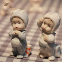 ceramic doll boy girls baby angel figurines home decor crafts Childrens room statue porcelain figurine wedding decoration gifts