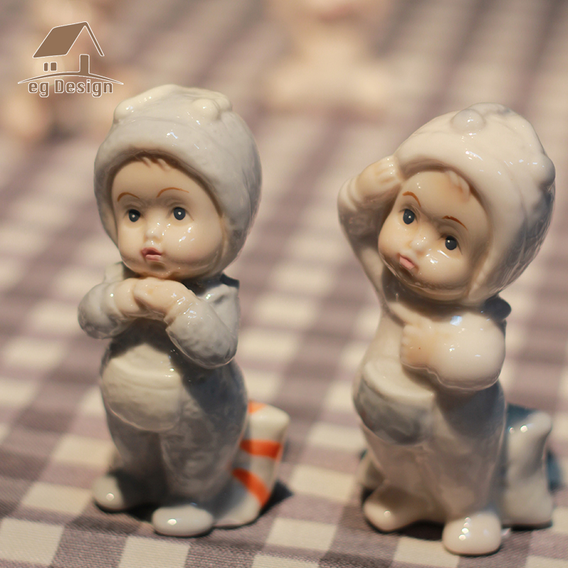 ceramic doll boy girls baby angel figurines home decor crafts Children's room statue porcelain figurine wedding decoration gifts