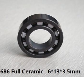 4pcs/10pcs 686 full Si3N4 Ceramic bearing 6*13*3.5mm Ceramic deep groove ball bearings 6x13x3.5 mm