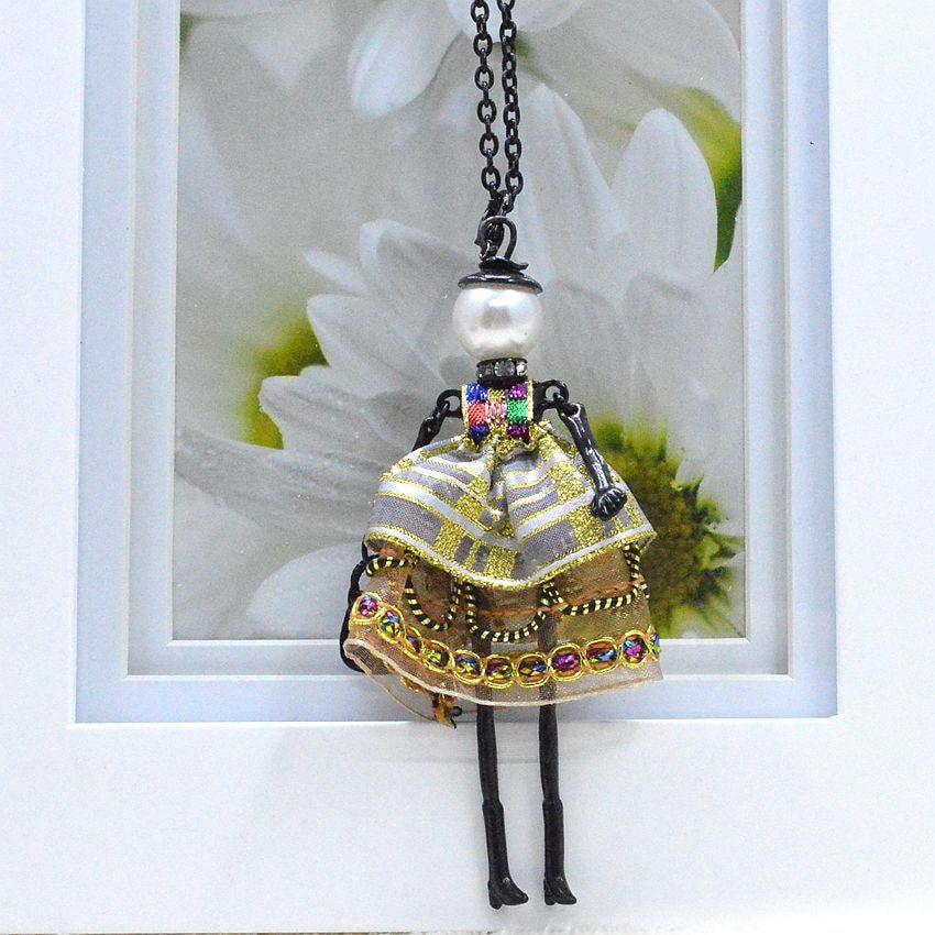 Nyaste ankomst mode docka halsband smycken försäljning härlig - Märkessmycken - Foto 4