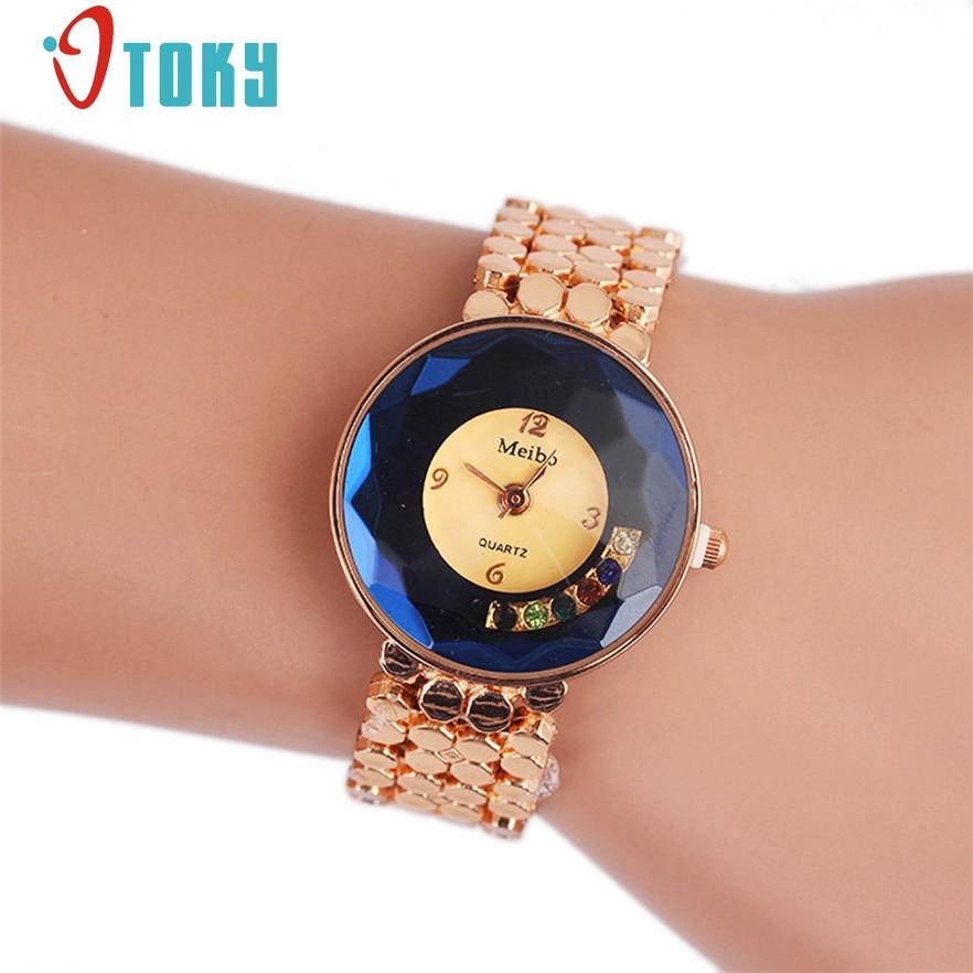OTOKY Watch Relogio Feminino Luxury Women Dress Watches Steel Quartz Watch Diamonds Gold Watches Womans Waches #40 Gift 1pc цена и фото