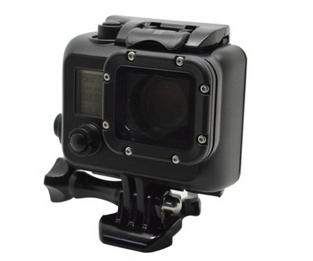 Prix pour Aller pro Case Boîtier Étanche Pour Gopro hero 3 Standard sous-marine Boîte De Protection Pour Gopro hero 3 HD Caméra Accessoires GP28B